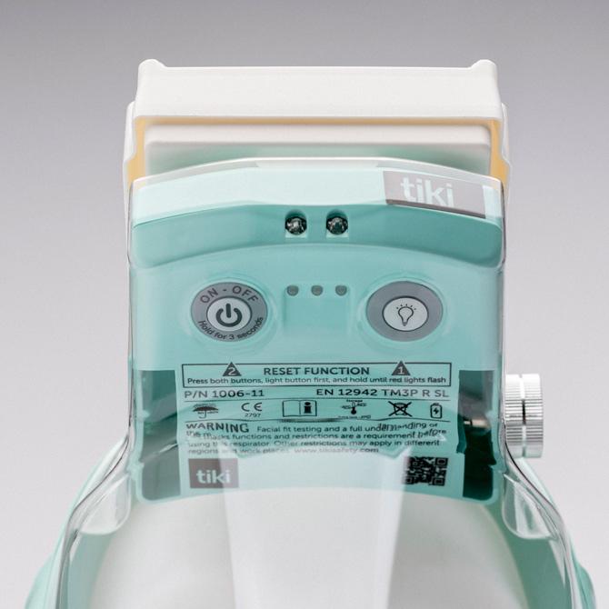 Tiki medical filtrerar både in- och utandningsluften